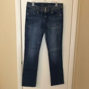 Seven medium wash straight leg jeans
